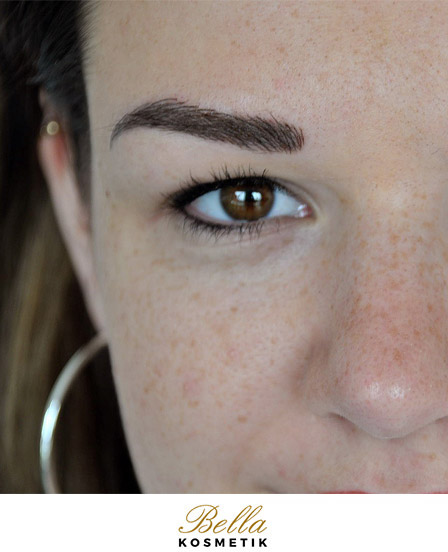 Microblading Augenbraue links - Zarrentin